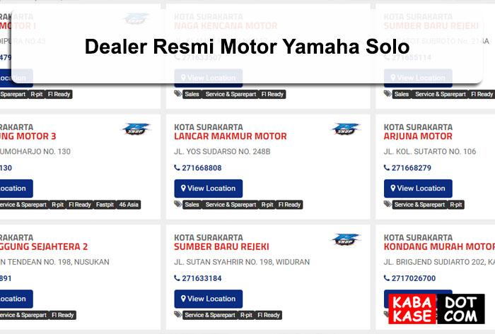 Dealer Resmi Motor Yamaha Solo