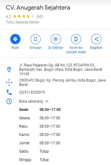 Lokasi Dealer CV Anugerah Sejahtera