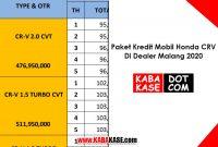 Paket Kredit Mobil Honda CRV Di Dealer Malang 2021