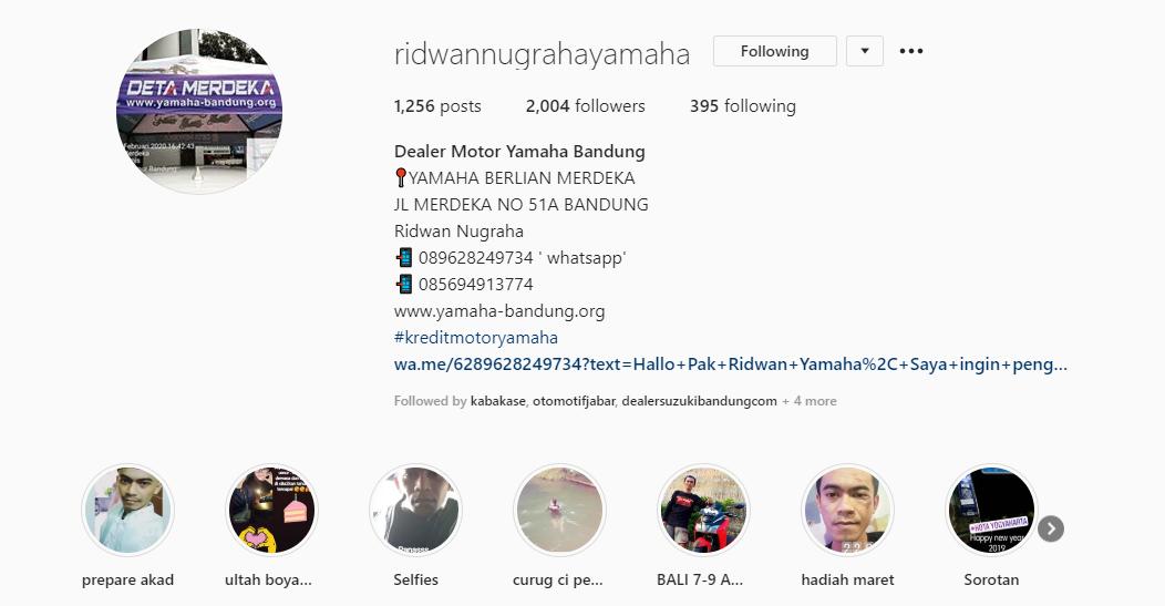 instagram yamaha bandung