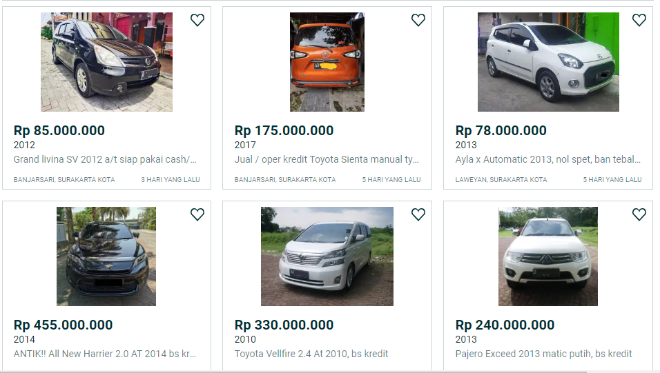 Info Kredit Dp Murah Mobil Bekas Di Solo Februari 2021