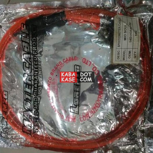 kabel speedometer mio warna merah
