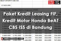 Info Paket Kredit Leasing FIF Kredit Motor Honda BeAT CBS ISS di Bandung